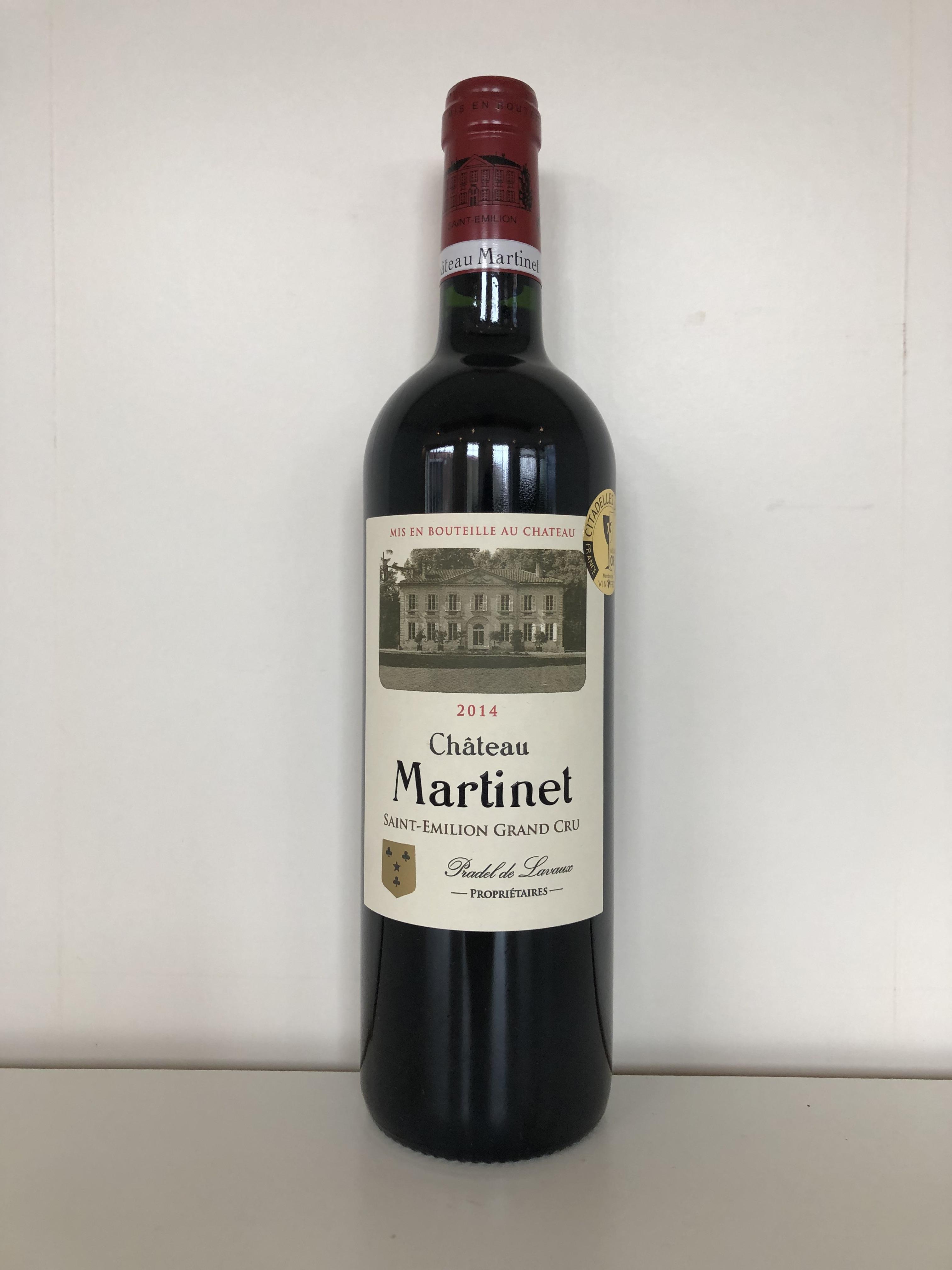 2014 Martinet, St Emilion GC, Bordeaux, France, 12 bottles