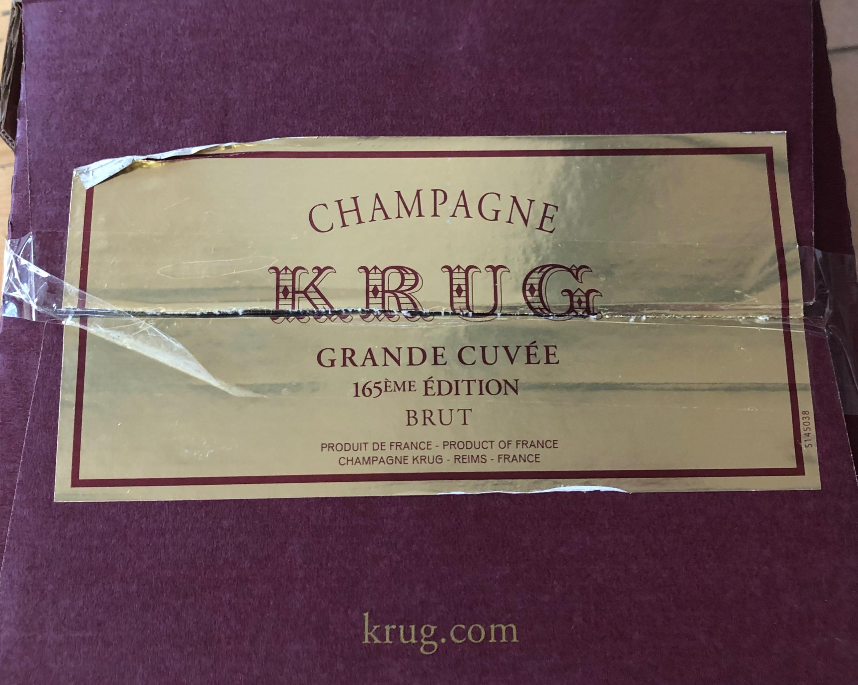 Lot 12 - NV Krug Grande Cuvee 165eme Edition, Champagne, France, 6 bottles
