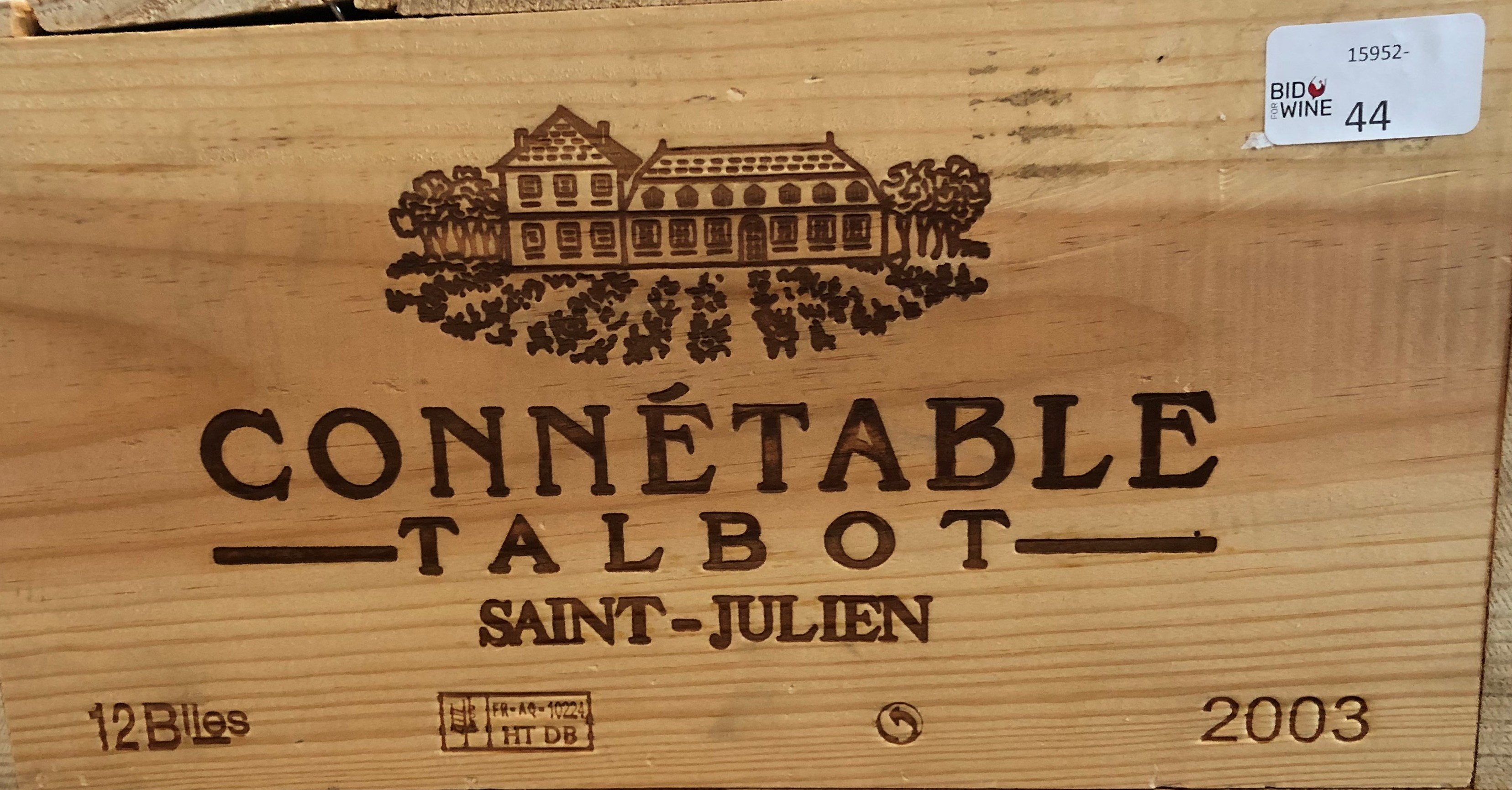 Lot 51 - 2003 Connetable de Talbot, St Julien, Bordeaux, France, 12 bottles