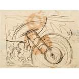 Otto Dix1891–1969Konstruktum 1914/20Tuschfeder und Tusche auf Papier20 x 27 cm(Lichtmass)Das Werk