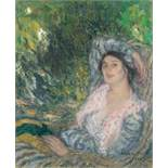 Edmond Aman-Jean1858–1936Portrait de femme dans un jardin1916Öl auf Leinwand73 x 60 cmAuktion
