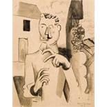 Roger de la Fresnaye1885–1925Le permissionnaire1917Tuschfeder und Tuschpinsel auf Papier26,5 x 20,