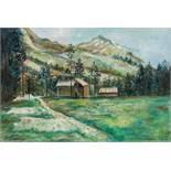 Maurice Utrillo1883–1955Balmensachen im Maderanertalum 1916Öl auf Karton37 x 55 cmAuktion Hôtel