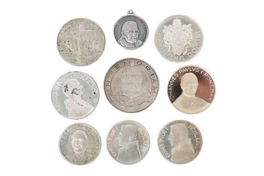 9 Vatikan M252nzen Medaillen Paul Ivi Metallsilber Ua