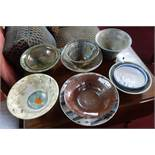 A collection of 10 Studio Art Pottery bowls of varying size and form (10)