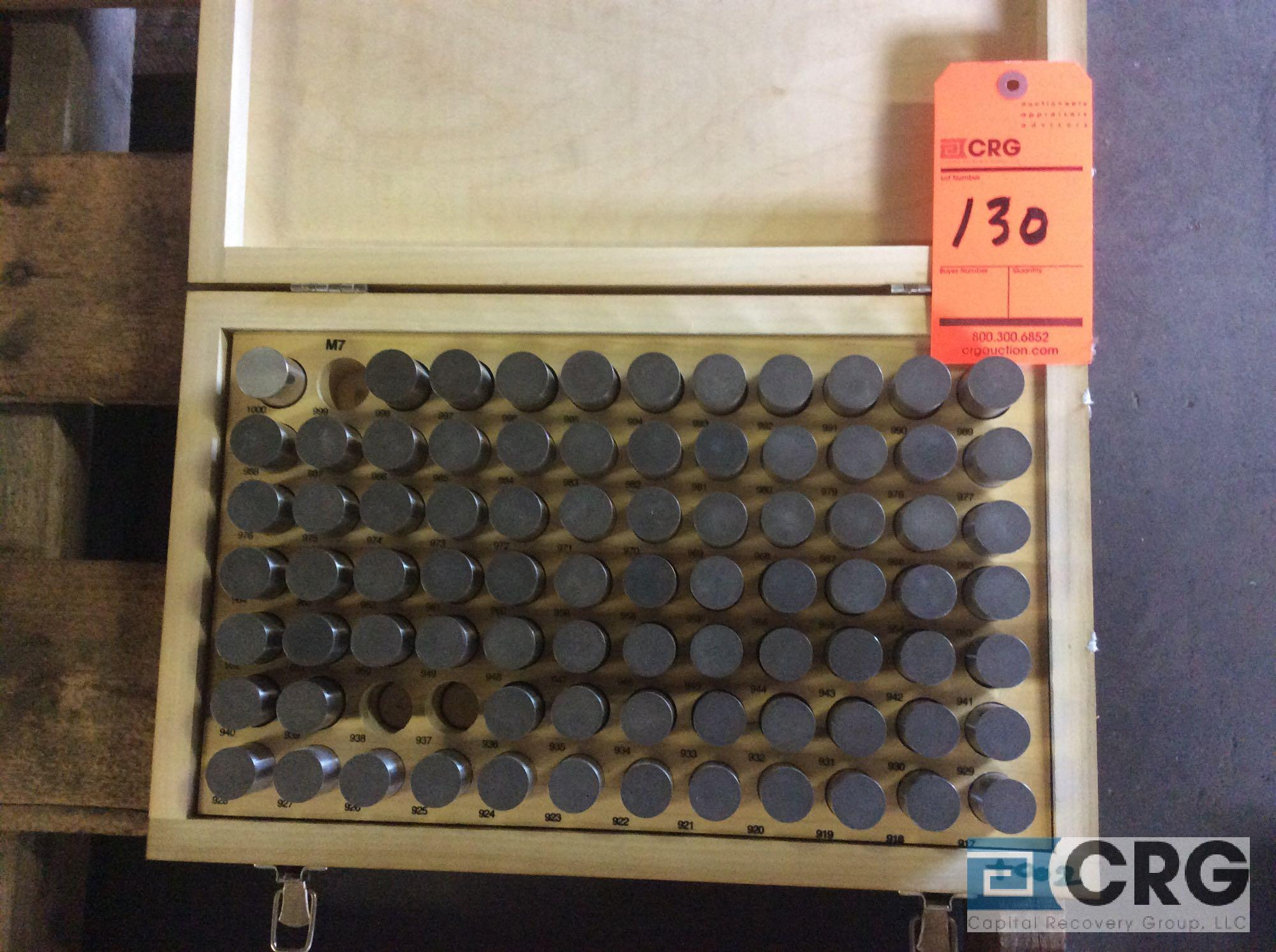 Lot 130 - Pin Gage Minus .9175 - 1.000 set
