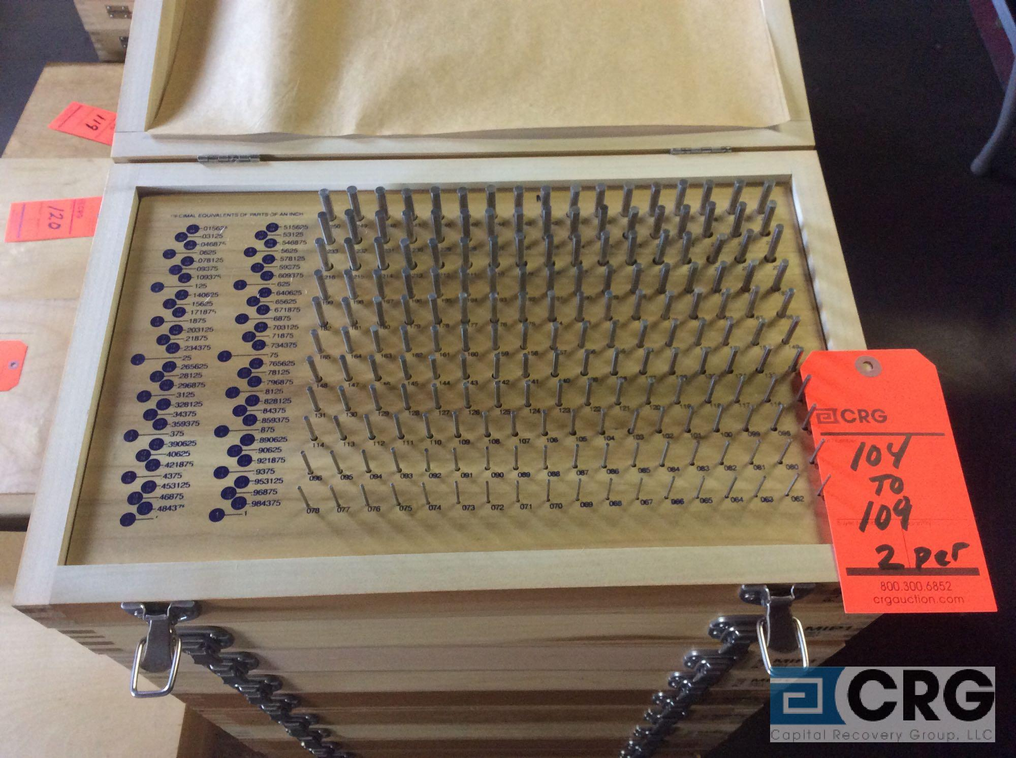 Lot 108 - Lot of (2) Pin Gage Plus .061 - .250 sets