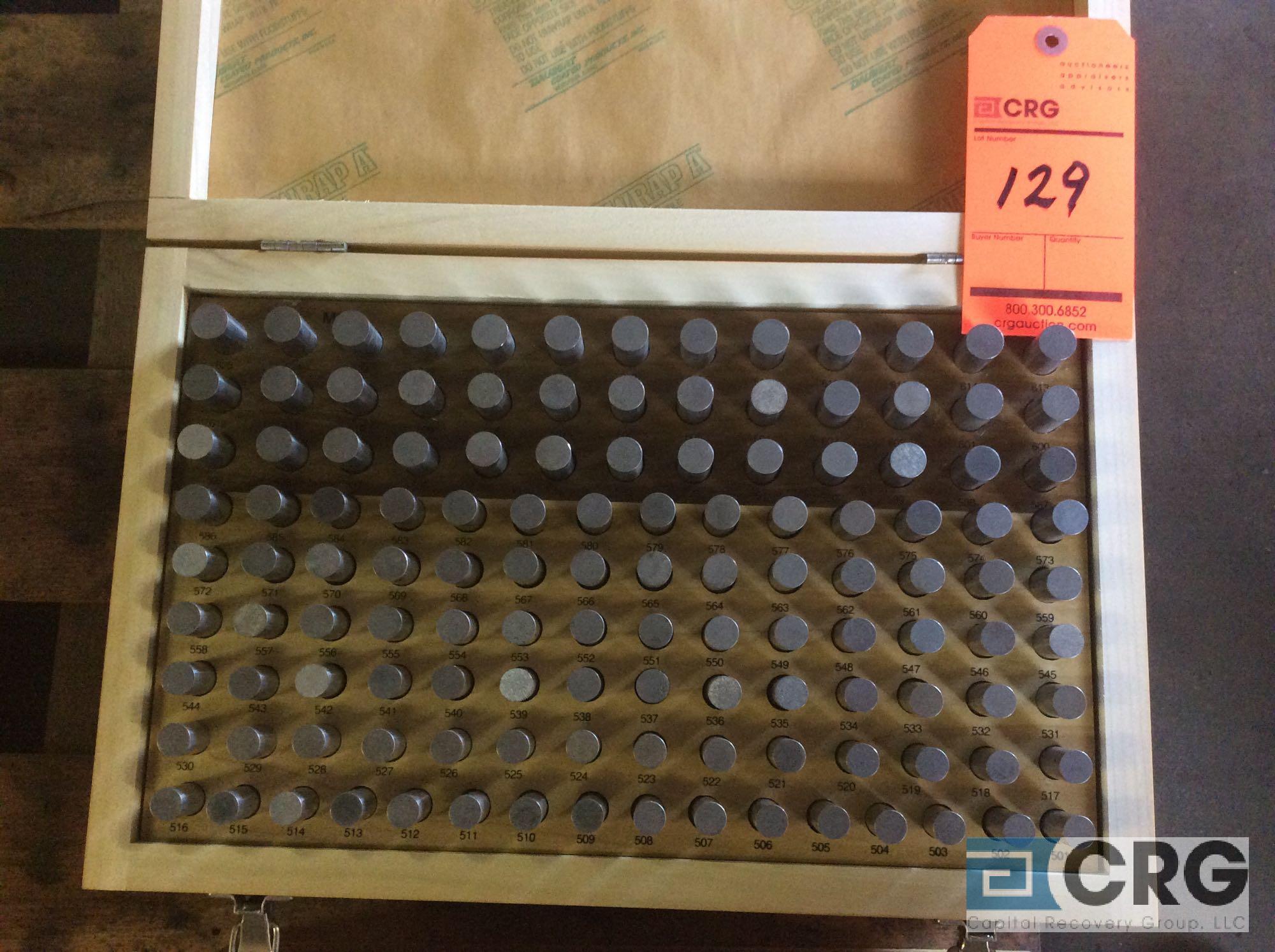 Lot 129 - Lot of (3) Pin Gage Minus .5015 - .6255 sets
