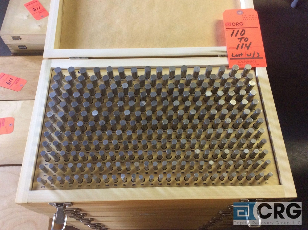 Lot 113 - Lot of (2) Pin Gage Plus .0251 - .500 sets