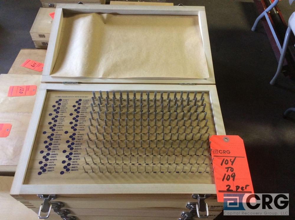 Lot 104 - Lot of (2) Pin Gage Plus .061 - .250 sets