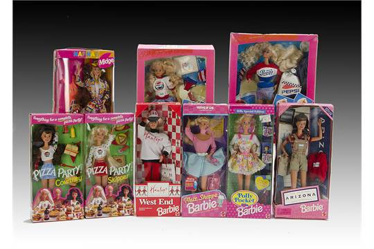 Fourteen Brand Barbie And Friends Pepsi Barbie And Skipper