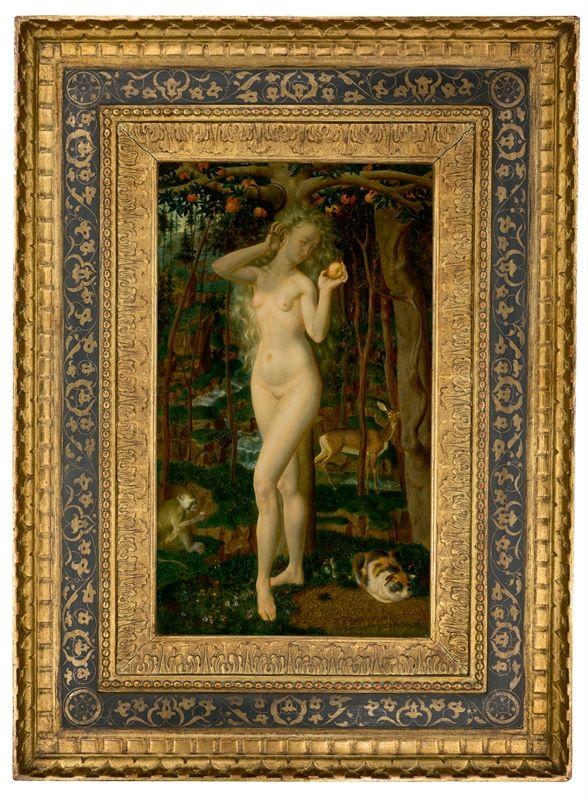 Los 307 - Theodor Baierl (1881 – München – 1932)Eva im Paradies. Um 1922Öl auf Holz. 47×27,5cm ( 18½×