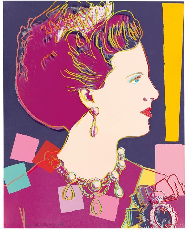 "Los 326 - Andy Warhol (Pittsburgh 1928 – 1987 New York)""Queen Margrethe II of Denmark – aus der Serie:"