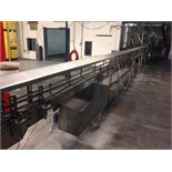Arrowhead bottle conveyor 3 1/4 inch table top chain approx36 inch long with motor and drive (from
