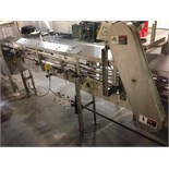 SS Bottle Conveyor 9 foot x 41/2 inch wide table top chain with motor and drive (ET-21445 )