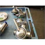 (4) Assorted SS 3-way plug valves   (ET- ) Located in Dunkirk, New York **__ A Rigging Fee of $10