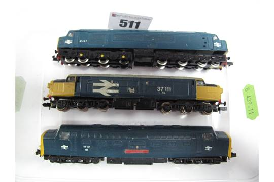 Three QuotNquot Gauge Locomotives All Graham Farish Class 45