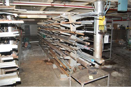 Lyon Double Side Cantilever Rack w/Contents - Assorted Copper Round ...