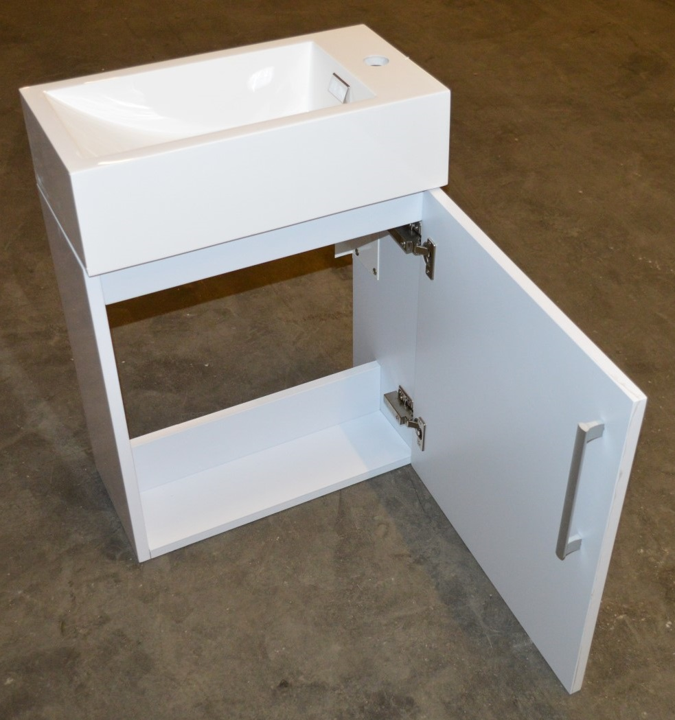 500mm Bathroom Sink : ... 500mm Wall Hung Bathroom Vanity Unit With Heavy Resin Composite Sink