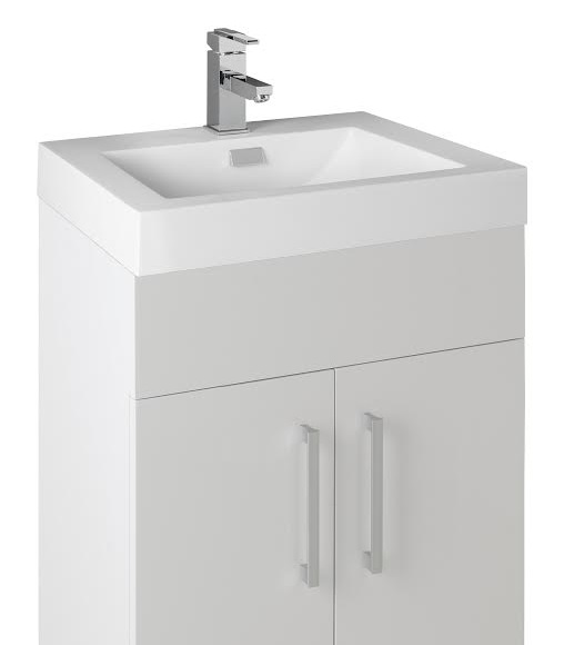 ... 500mm Wall Hung Bathroom Vanity Unit With Heavy Resin Composite Sink