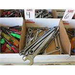 LOT - ASSORTED COMBO AND RATCHET WRENCHES