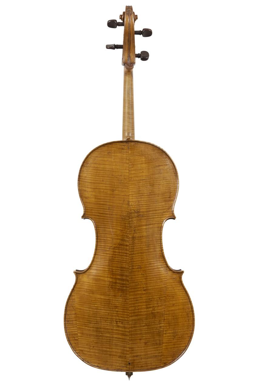 CLAUDE BOIVIN (fl Paris, 1724-1760) A CELLO PARIS 1738 labelled Claude Boivin rue de grenelle St.