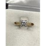 18ct GOLD 0.50ct PRINCESS CUT DIAMOND RING