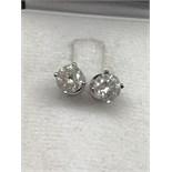 2.68ct DIAMOND SOLITAIRE EARRINGS
