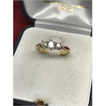 18ct GOLD OLD CUT DIAMOND'S TRILOGY RING