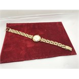 BUECHE GIROD PRE-OWNED 9CT YELLOW GOLD DRESS WATCH