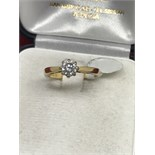 18ct GOLD 0.50ct DIAMOND SOLITAIRE RING