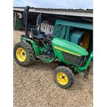 John Deere 4110 HST Compact Tractor c/w Folding Roll Bar - slight ignition fault runs & works OK