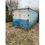 6m Steel Shipping Container c/w Barn Doors (Not Waterproof)