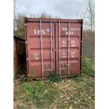 6m Steel Shipping Container c/w Barn Doors