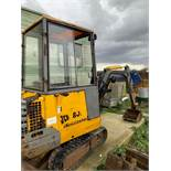 JCB 801 1 Tonne MiniMaster Digger on Rubber Tracks c/w Front Blade and Three Buckets