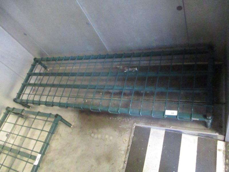 Lot 38 - 5' Metal Wire Dunnage Rack