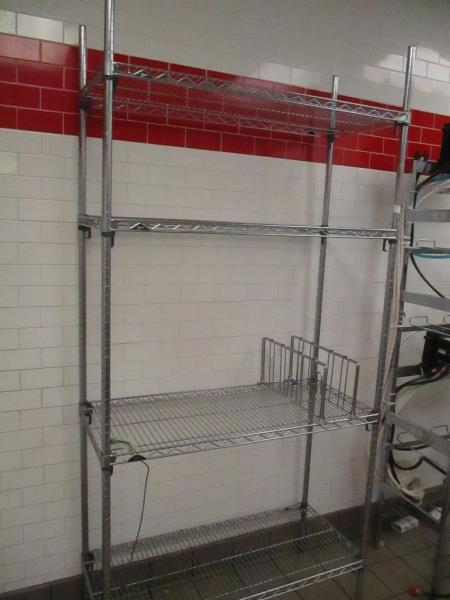 """Metal Wire Metro Shelves, Approx. 4' x 18"""" x 7' - Image 2 of 3"""