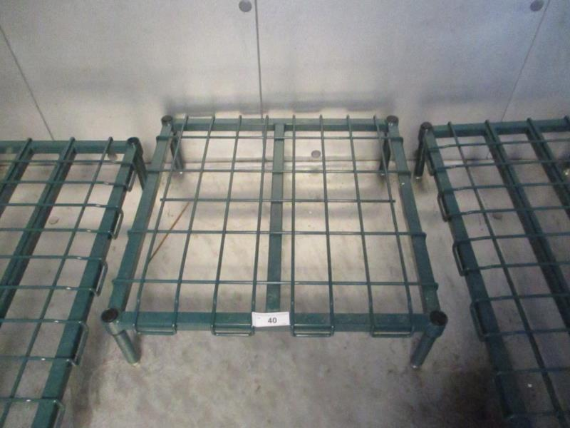 Lot 40 - 2' Metal Wire Dunnage Rack