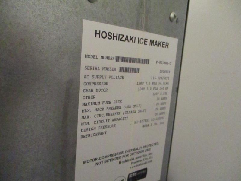 Ice Machine by Hoshizaki, Model: F-80/MWH-C, SN: D01651B - Image 3 of 6