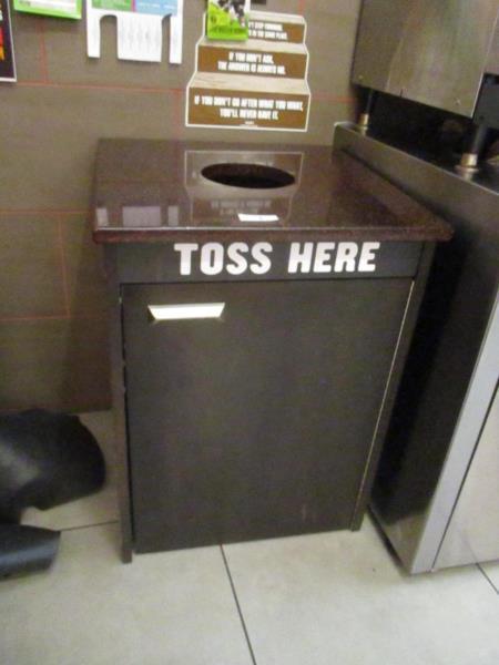 Lot 5 - Trash Receptacle w/ Granite Top