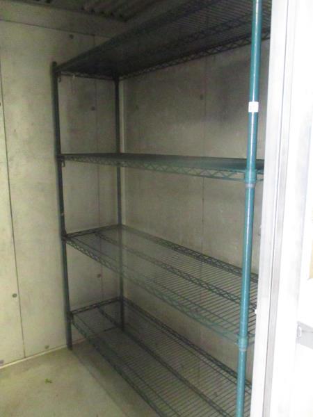 "Lot 37 - Green Metal Wire Freezer Shelving, Approx 5' x 30"" x 6'"