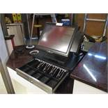 POS System by PDQ / Signature Systems, w/ (2) Touch Screen Counter Terminals, (2) Metal Cash