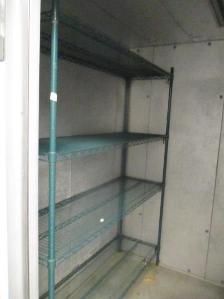 "Lot 36 - Green Metal Wire Freezer Shelving, Approx 5' x 30"" x 6'"