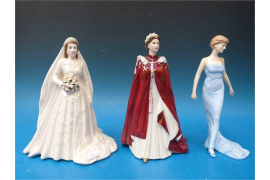 Royal Worcester \'Queen Elizabeth\' figurine (80th Birthday) and ...