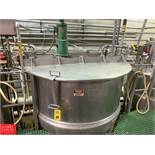 Lee 750 Gallon Dual-Hinged-Lid Jacketed S/S Kettle Model 750 D : SN 12264-2, 125 PSI Jacket, with