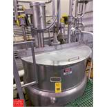 300 Gallon Double-Motion Dual-Hinged-Lid Jacketed S/S Kettle, 50 PSI Jacket, with High Shear