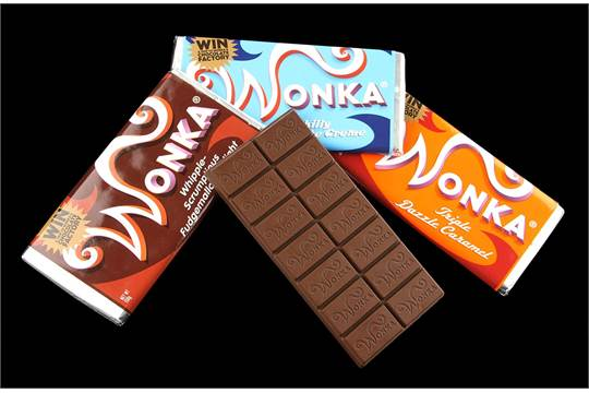 Charlie And The Chocolate Factory 2005 Set Of Wonka Bars