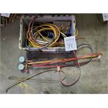 Air Conditioning Valves, Gages, Hoses and Assorted Fittings