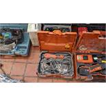 Fein Multimaster power tool with case & quantity of consumables Lots 1 to 39 comprise the total