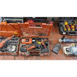 Fein cordless power tool kit comprising cordless drill & multi tool with a total of 2 batteries, 1